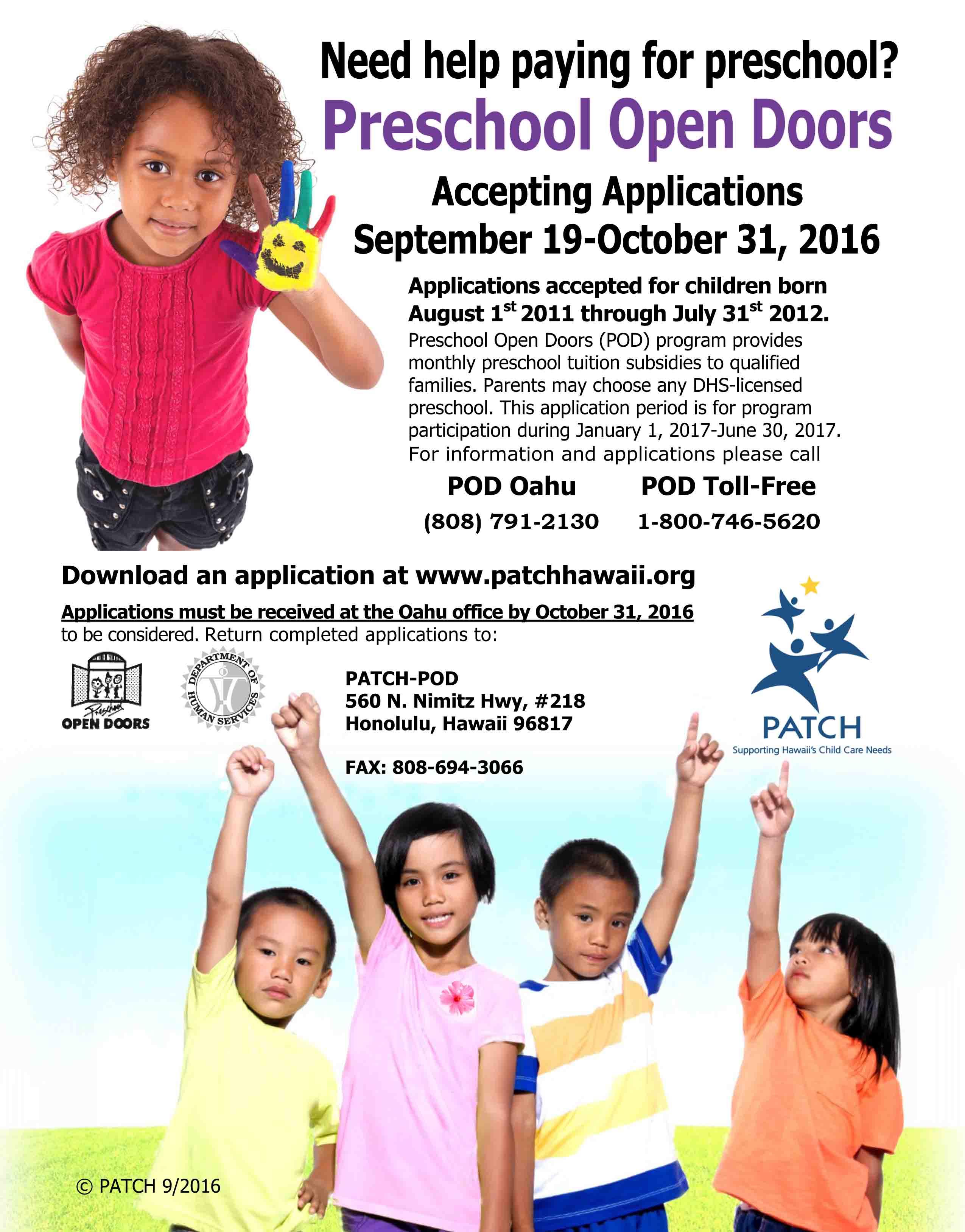 pod_flyer2_sept2016  sc 1 st  Maui Family Magazine & Preschool Open Doors Fall Application Period for the POD year 2016 ...